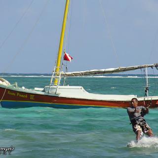 "Averaldo ""Picho"" Badillo enjoying kite surfing"