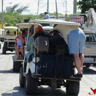 Overloaded Golf Cart