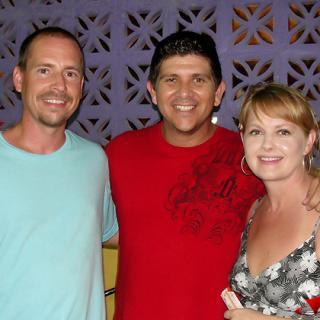 Editor Dorian Nunez with Robyn and Greg Ogdahl