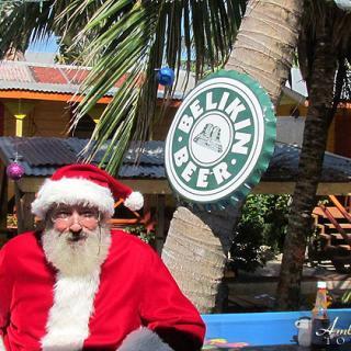 Santa Vacationing in Belize