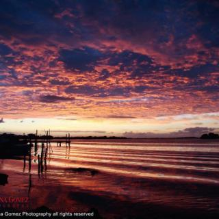 Marlena Gomez captures stunning sunset in San Pedro, Belize