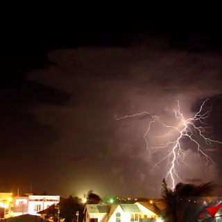 Lightning Strikes during Thunderstorm