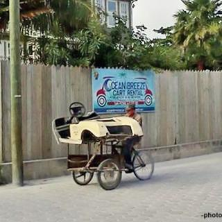 Golf Cart Body Delivered in Tricycle