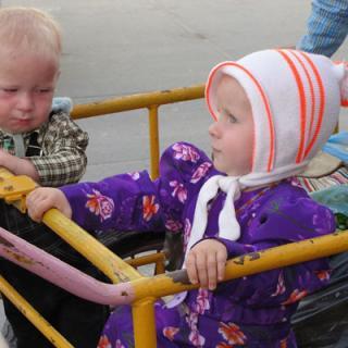 Two Mennonite Children