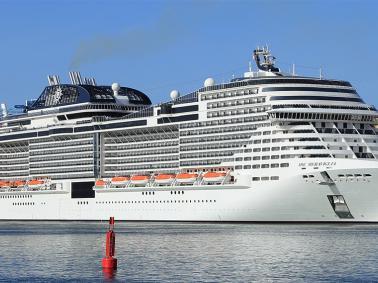 MSC MERAVIGLIA: World's 7th Largest Ship Makes Golden Voyage to Belize