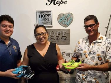 Ambergris Caye Masonic Lodge Donates Soccer Shoes to Hope Haven