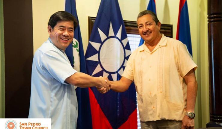 Ambassador of the Republic of China Taiwan Visits San Pedro Town