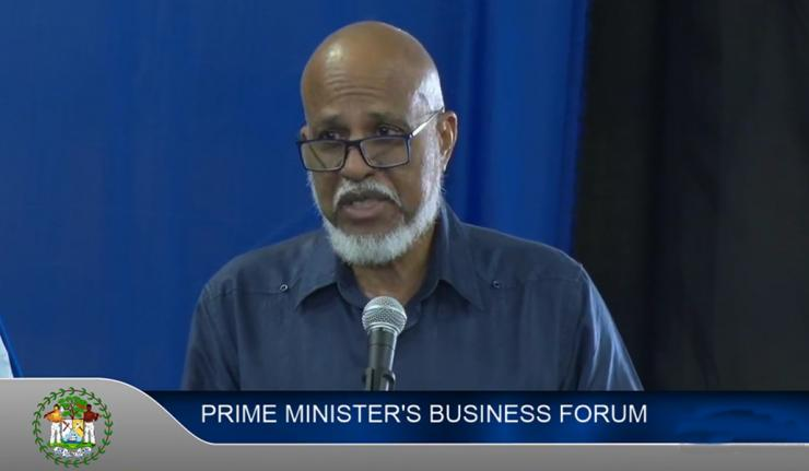 Prime Minister Dean Barrow Holds Business Forum